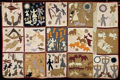 Pictorial Quilt American Poster by MotionAge Designs