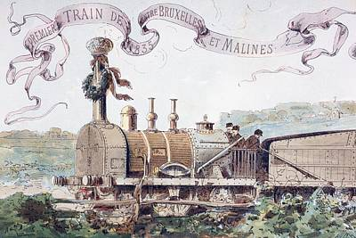 Picture Celebrating The First Train Poster