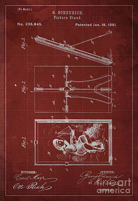 Picture Stand Patent 1881 Poster
