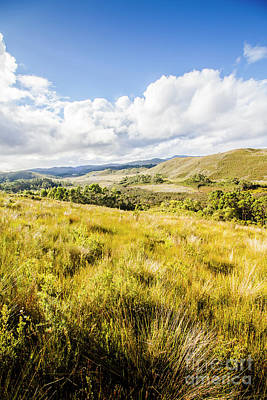 Picturesque Tasmanian Field Landscape Poster by Jorgo Photography - Wall Art Gallery