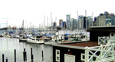 Picturesque Vancouver Harbor Poster by Will Borden
