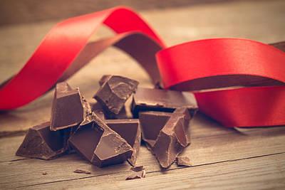 Pieces Of Chocolate Bar Poster by Nadezhda Tikhaia
