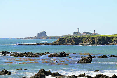 Poster featuring the photograph Piedras Blancas Lighthouse by Art Block Collections