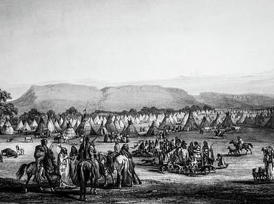 Piekann Native American Encampment Poster
