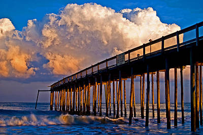 Pier At Sundown In Ocean City Poster