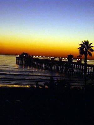Poster featuring the photograph Pier At Sunset by Amanda Eberly-Kudamik