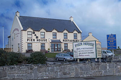 Pier House Restaurant Aran Islands Poster by Betsy Knapp