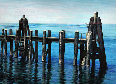 Poster featuring the painting Pier by Jason Girard