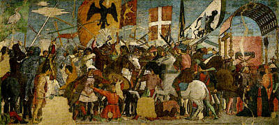 Piero Della Francesca Battle Between Heraclius And Chosroes Poster