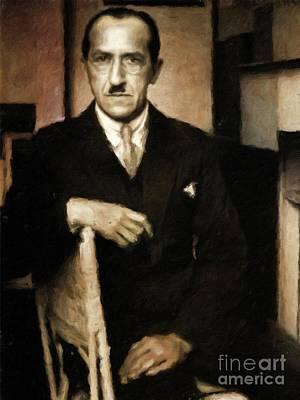 Piet Mondrian, Artist By Mary Bassett Poster by Mary Bassett