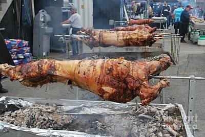Poster featuring the photograph Pig Roast by Bill Thomson