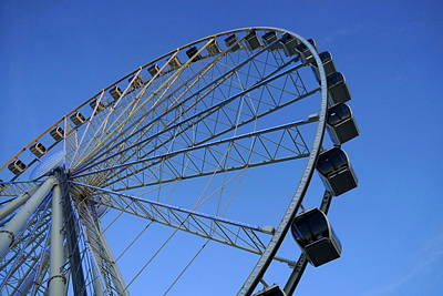 Pigeon Forge Wheel Poster by Laurie Perry