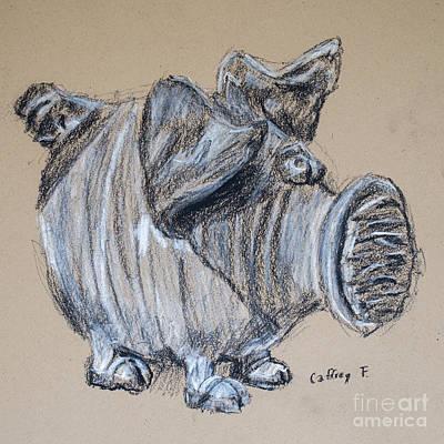 Piggy Bank Drawing By Caffrey Fielding Poster by Edward Fielding