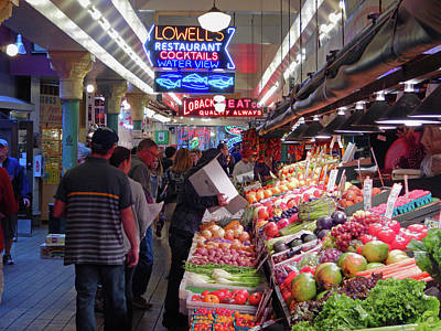 Poster featuring the photograph Pike Market Fruit Stand by Walter Fahmy