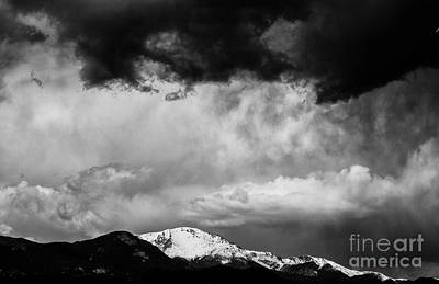 Pikes Peak Dramatic Skies Poster