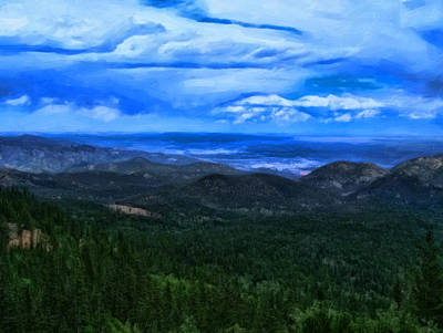 Pikes Peak Summit Poster by Chris Flees