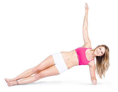 Pilates Instructor On White Background Poster