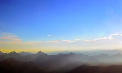 Pilchuck And Three Sisters Sunrise Poster