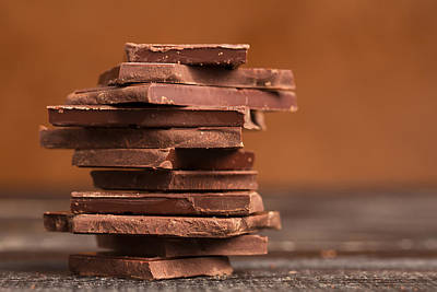Pile Of Dark Chocolate  Poster by Vadim Goodwill