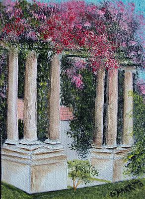 Pillars In The Garden Poster