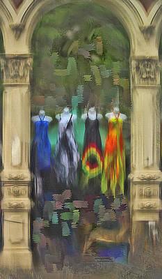 Poster featuring the digital art Piller Dresses by Dale Stillman