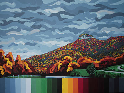 Pilot Mountain Fall Poster