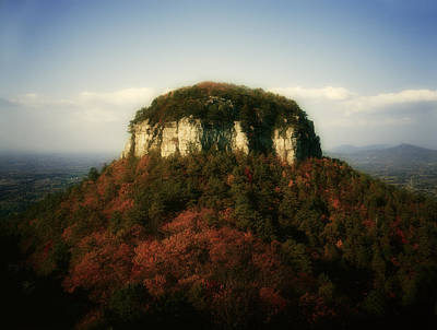 Pilot Mountain Poster by Mark Wagoner