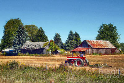 Pinconning Farm Poster by Jeff Holbrook