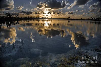 Pine Glades Lake Poster by Richard Smukler