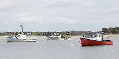 Poster featuring the photograph Pine Point Boats by Kirkodd Photography Of New England