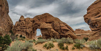Pine Tree Arch In Arches National Monument, Utah Poster by Frank Bach