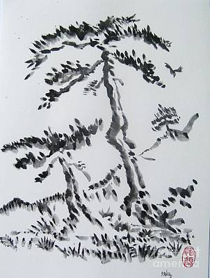 Pine Trees On Tokaido Road Poster