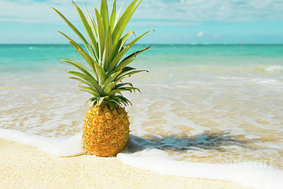 Poster featuring the photograph Pineapple Beach by Sharon Mau