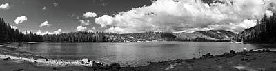 Pinecrest Panorama Black And White Poster by Sierra Vance