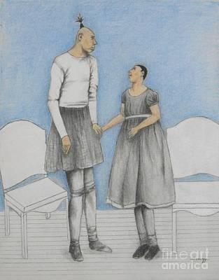 Pinhead Friends -- Portrait Of 2 Developmentally Disabled Men Poster