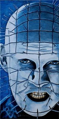Poster featuring the painting Pinhead Up Close And Personal  by Al  Molina
