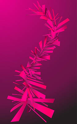 Pink Abstract Lines Poster by Dragana  Gajic