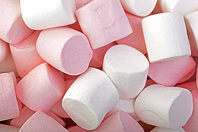 Pink And White Marshmallows Poster by Jane Rix