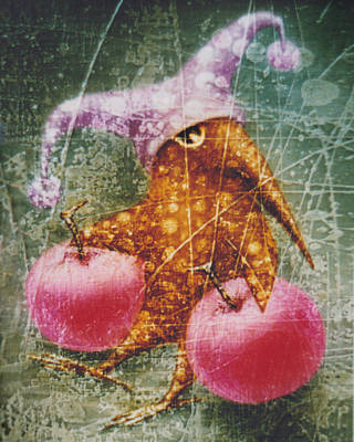Pink  Apples Poster by Lolita Bronzini