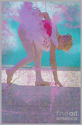 Poster featuring the photograph Pink Ballerina by Craig J Satterlee