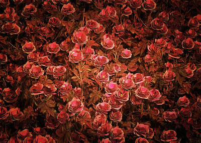 Poster featuring the painting Pink Bionica Roses by Jan Keteleer