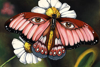 Pink Butterfly Poster by Anthony Burks Sr