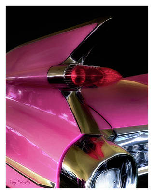 Pink Cadillac Poster by Trey Foerster