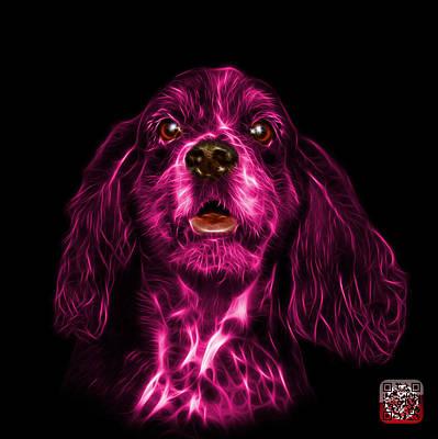 Pink Cocker Spaniel Pop Art - 8249 - Bb Poster by James Ahn