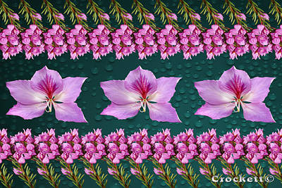 Pink Flower Arrangement Poster