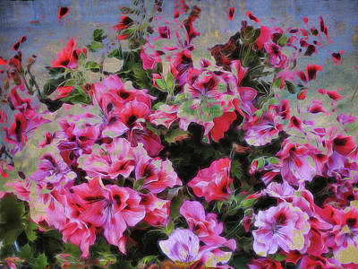 Pink Flower Fantasy Poster by Ann Powell