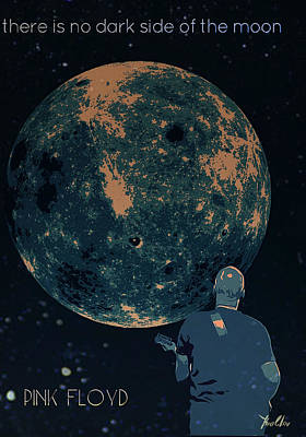 Pink Floyd Poster Dark Side Of The Moon Poster by Yury Malkov