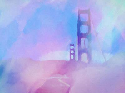 Pink Fog Golden Gate Poster by Lutz Baar