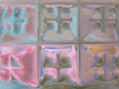 Pink Glass Quilt Poster