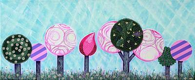 Pink Grove Poster by Graciela Bello